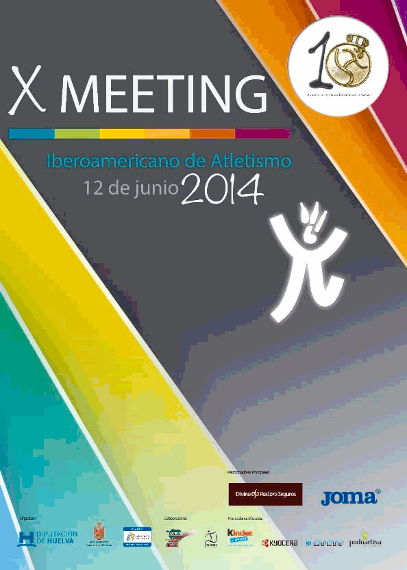 Cartel Meeting Iberoamericano de Atletismo.