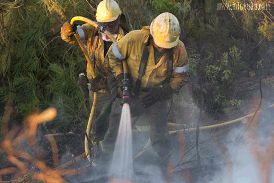 Un Incendio afecto a Mina Concepción el pasado año.