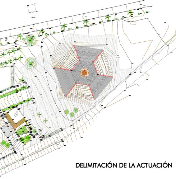 obras adecuación entorno columna