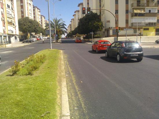 Imagen del asfaltado en la Avenida Fuerzas Armadas