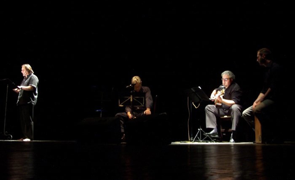 """Una imagen del espectáculo musical de """"La Cantata de El Pernales"""""""
