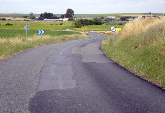 Estado de la carretera provincial HU-3101