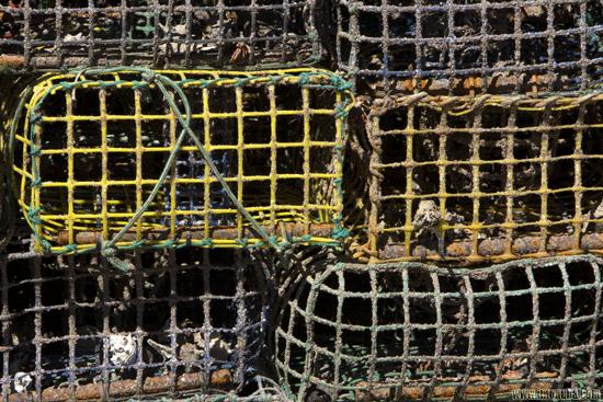 imagen de nasas para el marísqueo en la localidad onubense de Punta Umbría