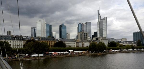 Imagen de la Ribera de los Museos en la ciudad alemana de Frankfurt.