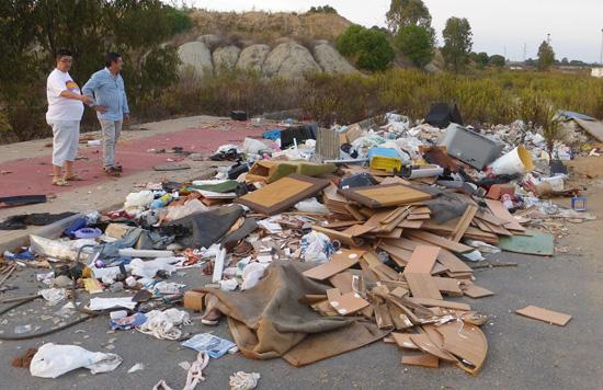 Imagen de escombros en Aljaraque.