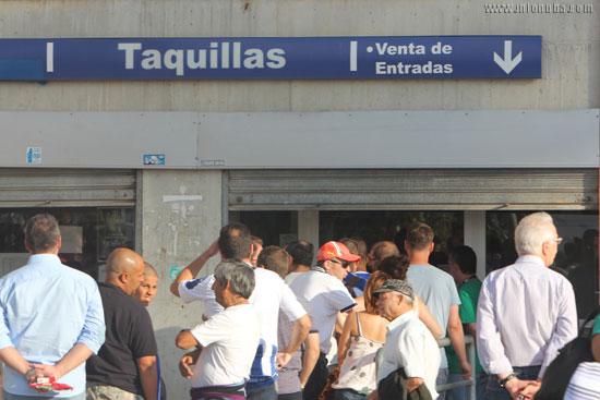 Imagen de las taquillas del estadio en la pasada edición del Trofeo Colombino.