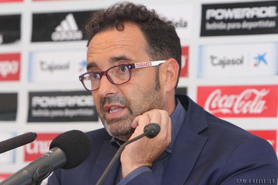 José Bordalás, durante la rueda de prensa posterior al partido.
