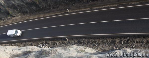 Imagen de una carretera secundario de la provincia.