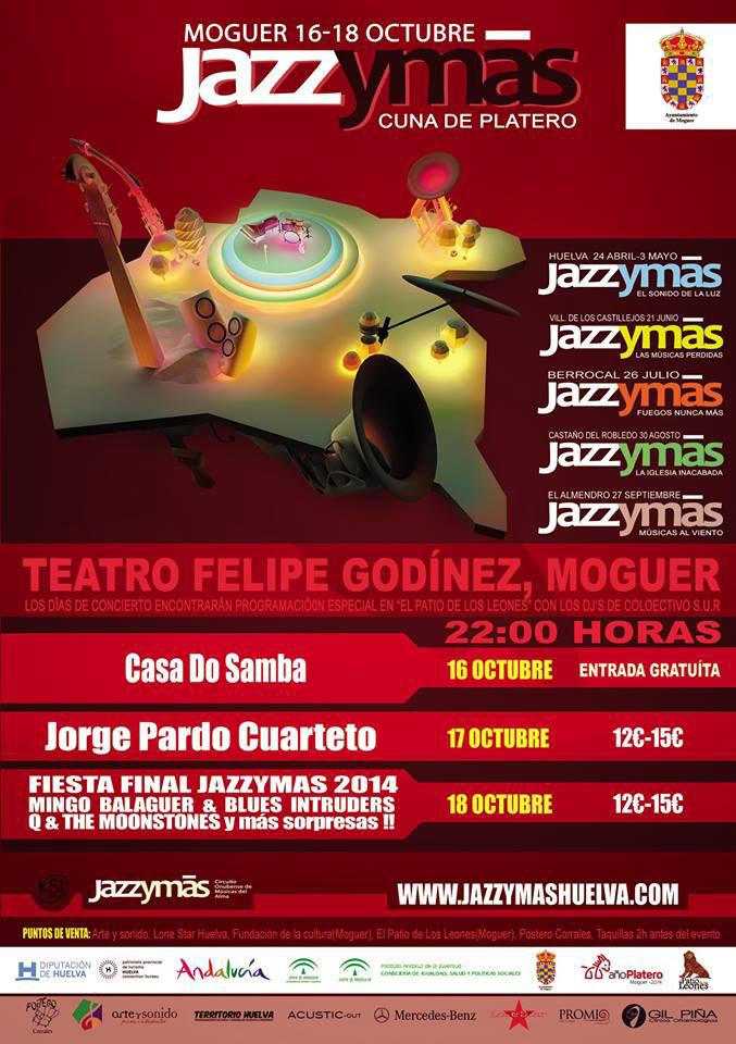 Cartel del festival Jazz y Más en Moguer.