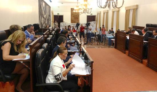 Imagen del Pleno de Diputación de Huelva.