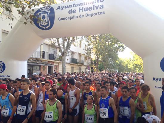 Imagen de la Vuelta a Huelva en la pasada edición.