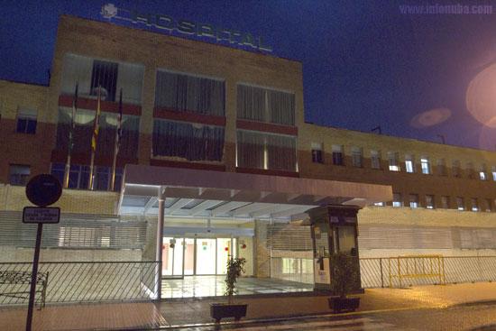 Entrada del Hospital Comarcal de Riotinto.