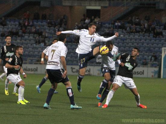 Una imagen del partido de Copa del Rey que enfrentó al Recreativo de Huelva con el Albacete Balompié esta temporada.