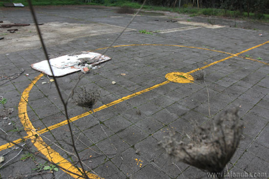 Imagen de la pista abandonada.