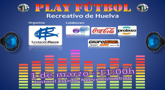 "Cartel del evento ""Play Fútbol""."