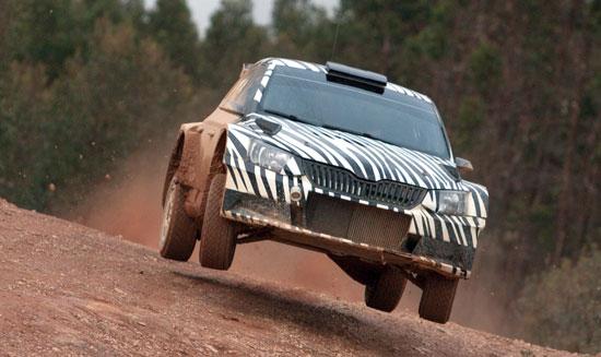 La escudería SKODA Motorsport ha realizado diversas pruebas de homologación del nuevo coche de SKODA en la categoría R5 de rallye en la provincia de Huelva.