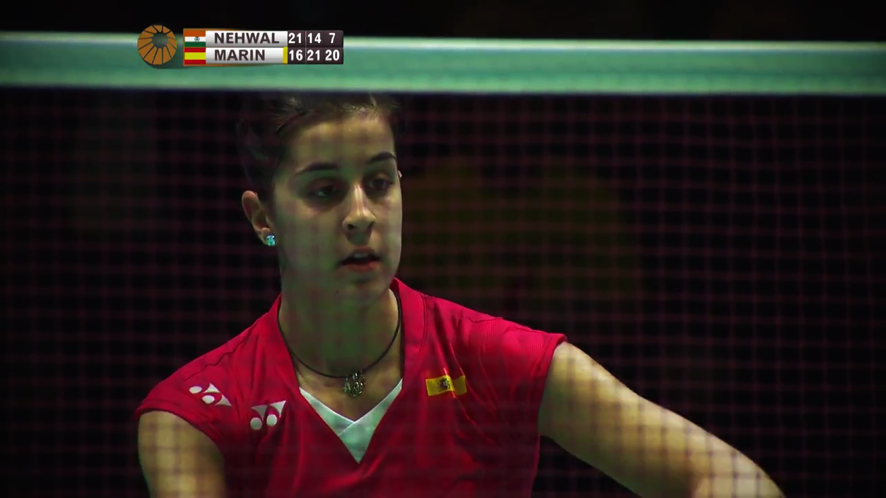 Imagen de Carolina Marin en la final del All-England.