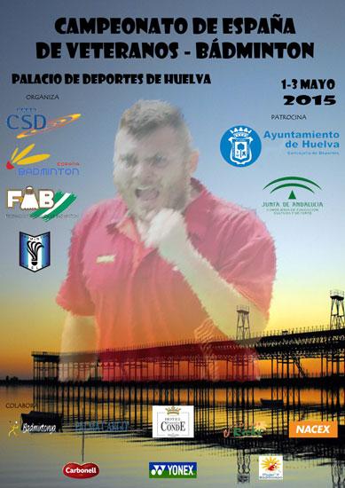 Cartel del Campeonato de España de Bádminton