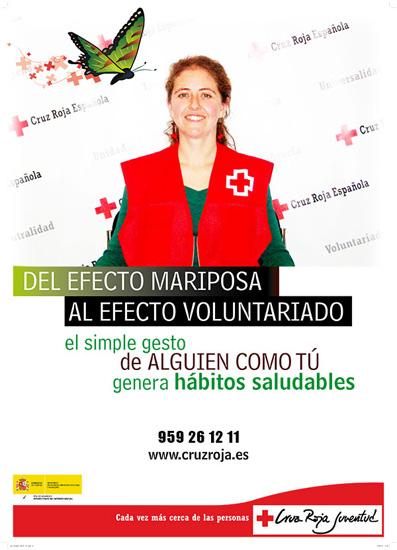 Uno de los carteles de la campaña de Cruz Roja.
