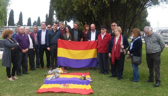 Homenaje republicano de IU en Huelva.