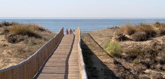 Turistas en la provincia de Huelva.