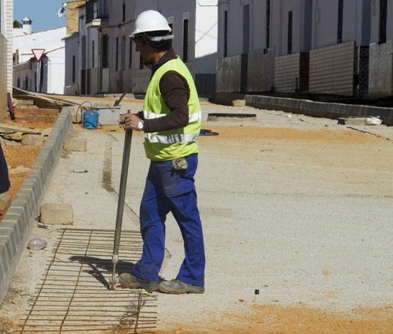 Un trabajador en una obra pública.