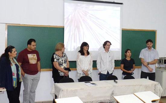 Inauguración de los cursos en la Universidade Federal Grande Dourados (Brasil).
