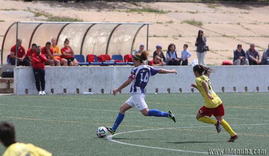 Una imagen del partido que enfrentó al Sporting Club de Huelva con el Santa Teresa de Badajoz