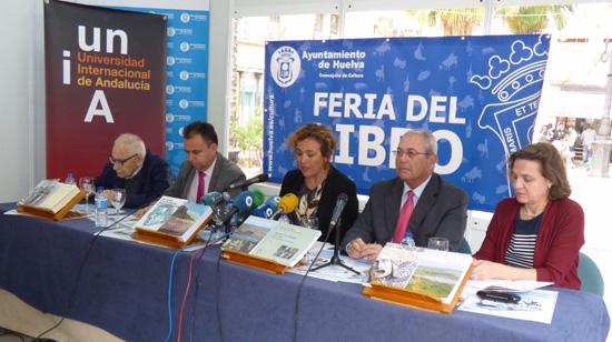 Esta mañana se han presentado las novedades editoriales de la Universidad Internacional de Andalucía en la Feria del Libro de Huelva.
