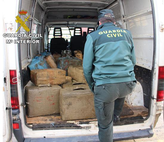 Alijo de droga incautado en Ayamonte.