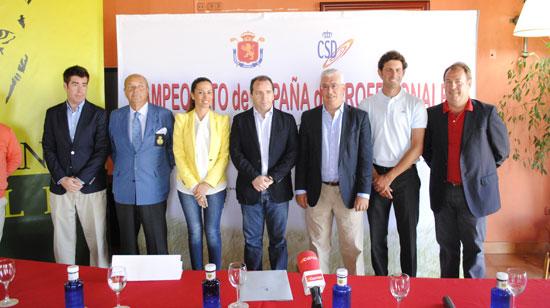 Presentación del LXVIII edición del Campeonato de España de Profesionales de Golf