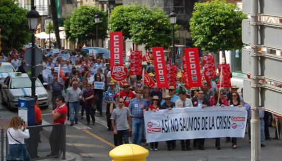 Imagen de los manifestantes.