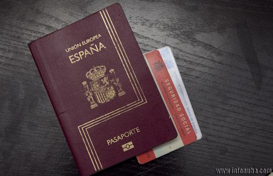 Un ejemplar de pasaporte.
