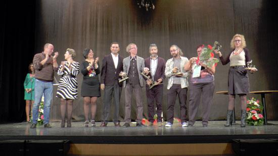 Premiados en la gala del pasado año.