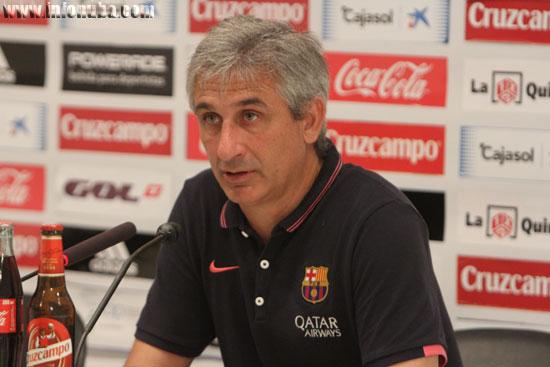 Jordi Vinyals, entrenador del filial del F.C. Barcelona.