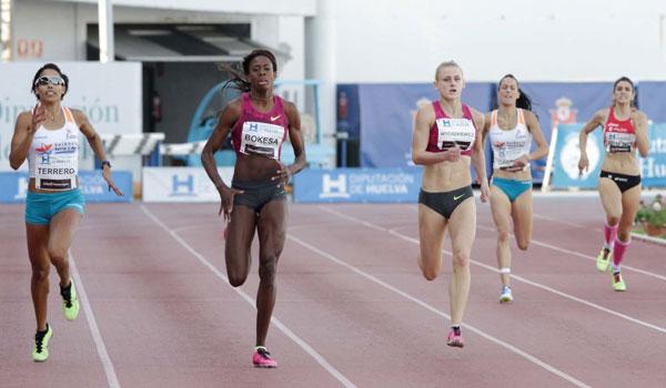 Una de la pruebas del Meeting Iberoamericano de Atletismo