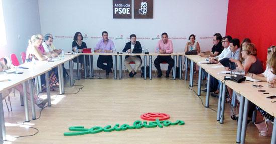 Reunión del Partido Socialista sobre los PGE.