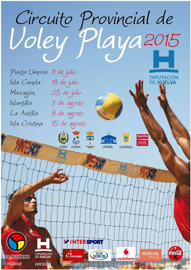 El Circuito Provincial de Voley Playa, patrocinado por la Diputación de Huelva y organizado por el Club Deportivo Acción XXI y los ayuntamientos participantes, dará comienzo, como viene siendo habitual en los últimos años en Punta Umbría.