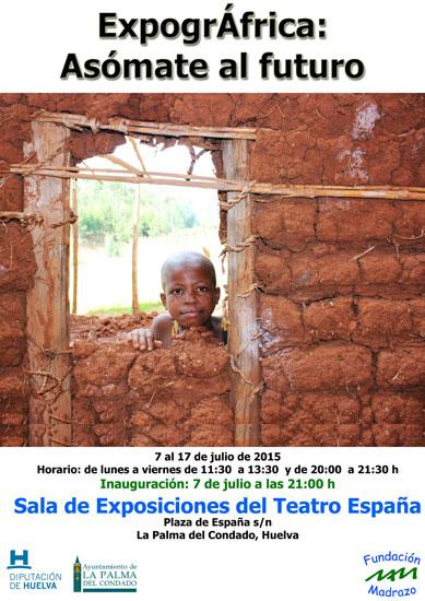 """Cartel de """"ExpogrÁfrica: asómate al futuro""""."""