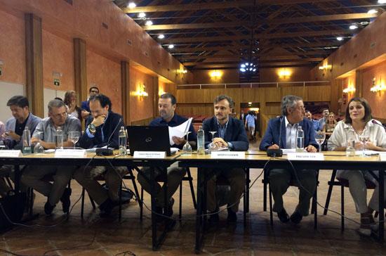 Imagen del la reunión del pleno del Consejo de Participación celebrado en Almonte.