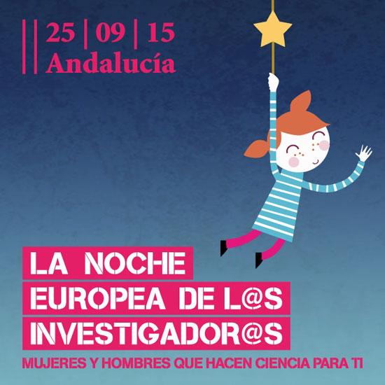 """Cartel de la actividad de """"La Noche Europea de los investigadores""""."""
