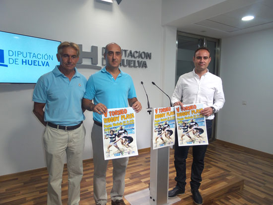 Presentación del torneo de rugby- Playa Punta Umbría