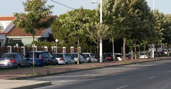 Imagen de la Zona ORA en la localidad de Punta Umbría.