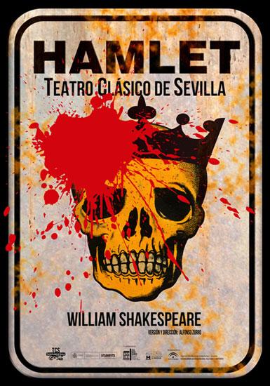 Cartel de la obra teatral Hamlet.