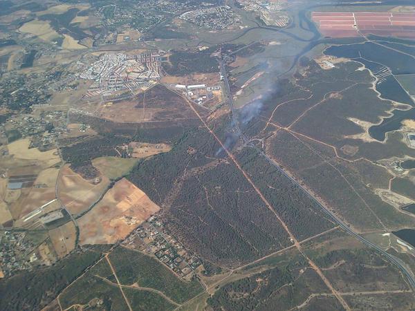 Imagen tomada desde el avión de coordinación Sierra1.