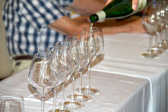Imagen de una cata de vinos de El Condado.