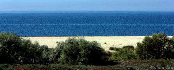 Imagen de la costa onubense.
