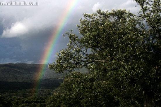 Imagen de un arcoiris.