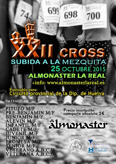 Cartel del XXII Cross Subida a la Mezquita de Almonaster.
