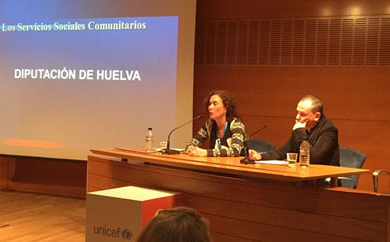 Imagen de una charla en el Foro Unicef.
